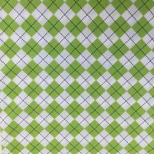 Robert Kaufman REMIX Green Argyle Check Cotton FABRIC FAT QUARTER