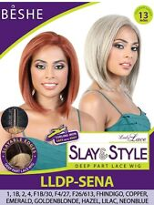 Beshe Slay and Style Deep Part Lace Wig - LLDP SENA color: 2 (Dark Brown)