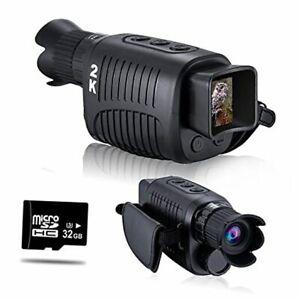 Digital Night Vision Monocular for 100% Darkness, 2K Full HD Video Long