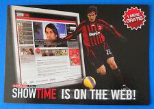 CARTOLINA PROMOCARD N.7852 - MILAN SHOWTIME - KAKA - SHOWTIME IS ON THE WEB!