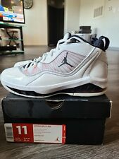 Jordan Melo M8 White/Pitch Blue/Red 469786 107 Mens Size 11 Rare 2012