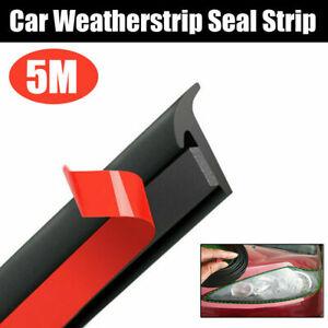 Car Door Rubber Seal Strip Edge Moulding Weatherstrip Hood Trunk Trim 5M L Shape