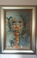"""vintage Raschella collection framed oil painting exposition affection 39"""" × 52"""""""