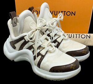 Auth LOUIS VUITTON Archlight Lined Sneakers #42 US 9.5 Monogram LV Logo Rank AB