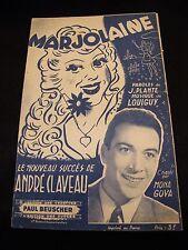 Partition Marjoram André Claveau Mona Goya Plant Louiguy Music Sheet