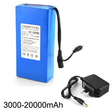 12V 3000-20000mAh Li-ion Rechargeable Battery Pack Electronic Equipment US PLUG