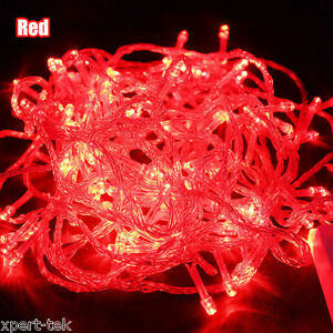 100LEDs 32ft RED String Fairy Lights Christmas Wedding Garden Party Xmas Decor