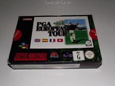 PGA European Tour Super Nintendo SNES Boxed PAL *Complete*