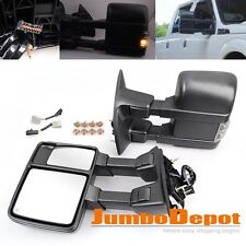 Power Heated Towing Mirrors w/ Signal Light Fit Ford F250 Super Duty 1999-2007