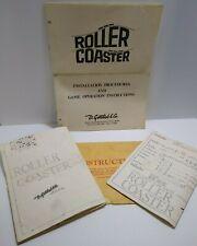 Roller Coaster Gottlieb Pinball Machine Game Schematics & Manual Original 1971