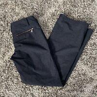 Athleta Women's Gray Nylon Stretch Zipper Pockets Pants Size 6
