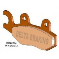 DELTA Sintered Rear Brake Pads  for TRIUMPH BONNEVILLE T100 SE  865cc 12> RDN4 D