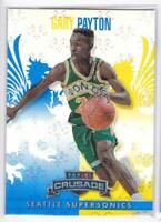 2013-14 Panini Crusade Blue #122 Gary Payton Seattle Supersonics Basketball Card