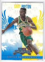 2013-14 Panini Crusade Blue #122 Gary Payton Seattle Supersonics Basketball Card