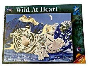 1000 Piece Holdson Wild At Heart Jigsaw Puzzle Mother Mountains Tiger Puzzle