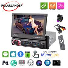 7''1 Din Car Radio Bluetooth iOS Mirror Link Touch Screen FM Stereo +Camera+SWC