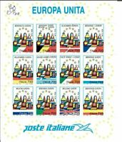 Francobolli Europa Unita Poste Italiane 1993 foglio nuovo Benvenuta Europa