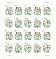 USA SC# 4764 LOVE FLOWER BOUQUET FOREVER PANE OF 20 S.A. PL# S111111111