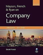 Mayson, French & Ryan on Company Law by Derek French (Paperback, 2017)