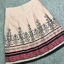 Womens size 6 A-line Pleated Skirt Apt 9 Pink peach beaded embroidered