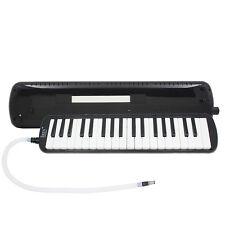 New 37 Key Black Melodica Pianica Keyboard Mouthpiece Music Instrument + Bag