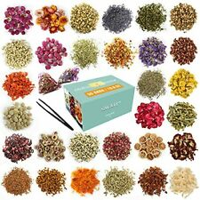 30 Bags Dried Flowers Herbs Kit 100% Natural Soap Making Diy Candle Bath