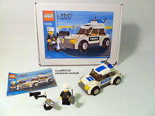 LEGO CITY 'POLICE CAR' #7236 GIFT BOX MANUAL MINIFIGURE 100% COMPLETE GUARANTEE