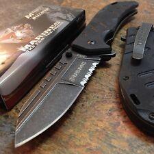 US MARINES USMC Licensed SPRING ASSISTED Tactical Rescue FOLDING POCKET KNIFE