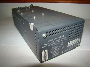 Lambda LRS-54-24 Regulated Power Supply, 5.4A, Used