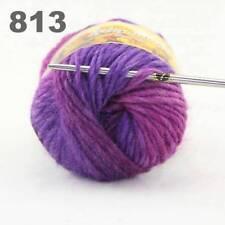C Sale 1ballx50g colorful Soft Chunky Hand Knitting Rainbow Wool Shawls Yarn 13