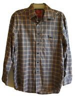 RM Williams Brown Check Shirt Long Sleeve - Small