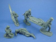 WWII German Medic Set with Stretcher Bearers Casualties 6 Pieces CTS FREE SHIP