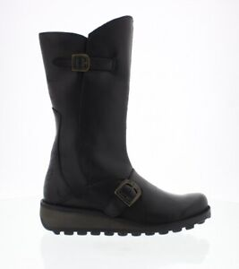Fly London Mes black leather boots