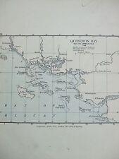 Antica stampa mappa DATATO 1905 TERMINALI Bay e i suoi approcci 1759 ATLANTE STORIA