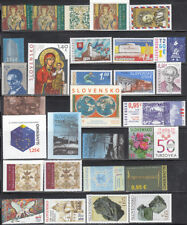 Slovakia 2018 Complete Year set. All stamps are MNH 28 stamps +2 Souvenir sheets