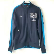Nike Men's Fly Emirates Soccer Arsenal Track Jacket Size Medium Navy Spell Out