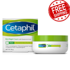 Cetaphil Face Rich Night Cream Hyaluronic Acid Protects Skin from Dryness 48g