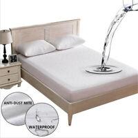 Mattress Cover Protector Waterproof Sheet Pad Twin Queen Size Bed Hypoallergenic