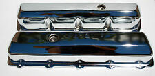 OLDSMOBILE TALL CHROME VALVE COVERS STAMP STEEL 307,330,350,403,400,425,455