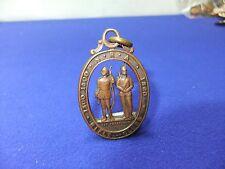 vtg badge nra rifle clubs sit perpetuum 1860 ,  1300 1500 brass medal pendant