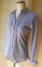 GERARD DAREL chemisier chemise 100 % coton rayures bleu ciel T 36 parfait état