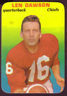 1970 TOPPS SUPER LEN DAWSON CARD NO:27 NEAR MINT