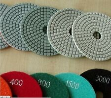 7 Inch Diamond Polishing Pads 7 Piece Set WET/DRY Granite Concrete Stone Marble