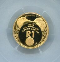 PCGS Secure South Africa 2010 R1 World Cup Pr69dcam Gold Coin Free Shipping