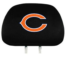Chicago Bears Auto Head Rest Covers 2 Pack [NEW] NFL Car Seat Headrest CDG
