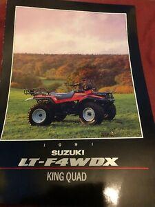 Rare Suzuki LT-F4WDX King Quad Brochure