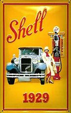 Shell 1929 embossed steel sign  300mm x 200mm (hi)