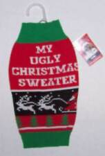 Simply Dog My Ugly Christmas Sweater Holiday Santa Sleigh Fair Isle Sz Small