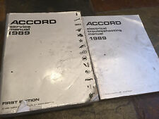 1989 Honda Accord Service Shop Repair Manual Set & Electrical Troubleshooting