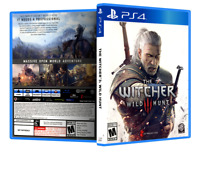 The Witcher 3: Wild Hunt - Replacement PS4 Cover and Case. NO GAME!!